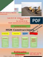 Portafolio MSM Construccuines