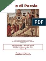 Sete di Parola - XXXIV settimana C 2016 (bis).doc