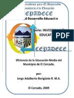 EFICIENCIA DE LA EDUCACIÓN MEDIA DEL MUNICIPIO DE EL CERCADO