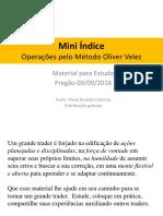 Estudo Mini Indice - Metodo OV