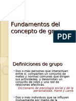Fundamentos Del Concepto de Grupo
