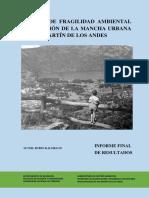 Diagnóstico Ambiental de la ciudad de San Martín de los Andes, Neuquén, Argentina