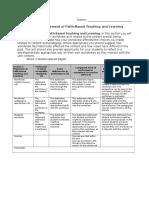 3statementoffaith-basedteachingandlearning docx