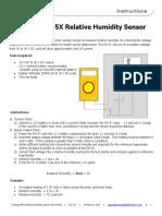 Testing RH5X Relative Humidity Sensor Instructions
