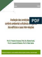(Avaliacao Das Condicoes de Conforto Ambiental e Eficiencia Energetica)