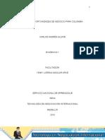Evidencia 1 Informe Oportunidades de Negocio Para Colombia