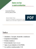 Metadatos, Por Manuela Palafox Parejo, Universidad Complutense de Madrid