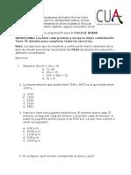 Preprueba matemáticas-College board