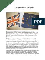 Las Posibles Repercusiones Del Brexit
