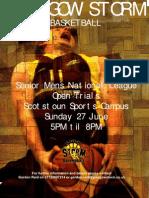 Storm Open Trials Flyer