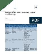 Postoperative Fracture Treatment