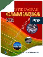 Statistik Daerah Kecamatan Bandungan 2016
