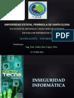 Clase 1 - Introduccion Inseguridades Informaticas