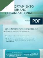 COMPORTAMIENTO HUMANO ORGANIZACIONAL