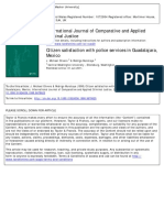 OLIVERO and MURATAYA. Citizen Satisfaction With Police Services in Guadalajara, Mexico