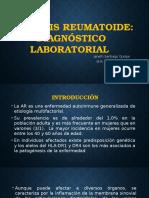 Diagnóstico Laboratorial de La Artritis Reumatoide