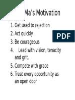 Jack Ma's Motivation
