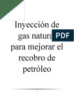 Inyección de Gas Natural Para Mejorar El Recobro de Petróleo