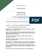 Bibliografia de y Sobre M Foucault