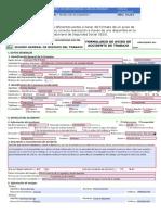 Formato de un aviso de accidente laboral(IESS)