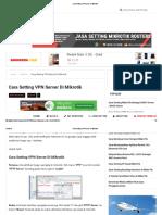 Cara Setting VPN Server Di Mikrotik