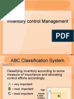 ConceptofInventoryManagementInventoriesControlTechniques ABCAnalysisandVEDAnalysisE.O.Q.reorderlevel