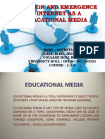 Evolution and emergence of internet as a educational media/SOUMITA RAY/gsm 2016