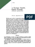 Lexico Kawesqar Español