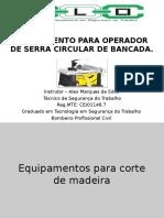 Treinamento - Serra Circular de Bancada - Frigo 10 2016