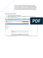 Procedure to File Income Tax Return