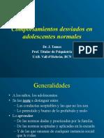 Comportamientos Desviados en Adolescentes Normales