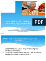 Food Safety 101_Cleaning, Sanitation, Equipement Use and Care