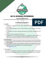 2015 Apogce Petrobowl Rules & Regulation