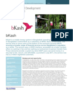 Case Study -BKash | Mobile Phones | Fee