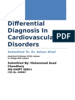 Assignment 1 Differential Diagnosis