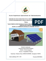 Electrification Rurale Par le biais de Kits solaires photovoltaïques