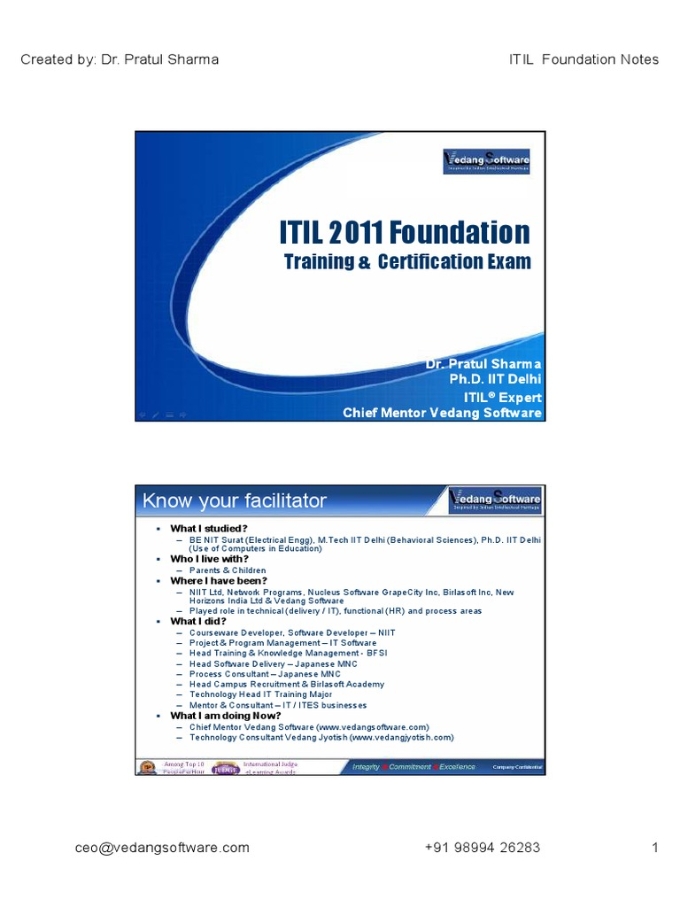 Itil 2011 foundation itil accountability 1betcityfo Choice Image