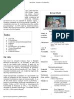 Edward Said - Wikipedia, La Enciclopedia Libre