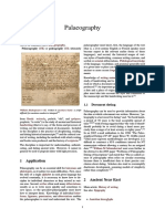 Palaeo Graphy