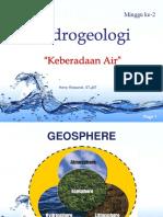 Geohidrologi - Minggu 2 - Keberadaan Air