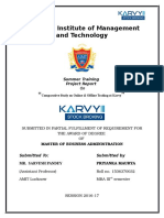Comparative Study on Online & Offline Trading at Karvey Priyanka Maurya