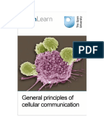 General Principles of Cellular Communication