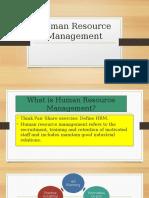 human resource management lesson 1