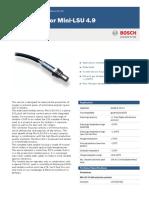Bosch Lambda Sensor Mini-LSU 49 Datasheet 51 en 20590438667pdf