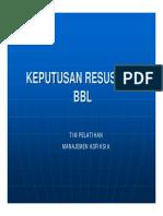1.b Penilaian Bbl, Keputusan Resusitasi Bbl