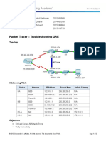 7.2.2.4 Packet Tracer - Troubleshooting GRE Instructions
