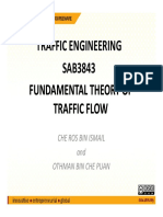 Fundamental Theory of Traffic Flow