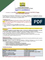 Appel a Candidature Passerelles S5 - 2016-2017