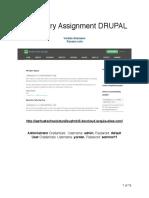 Drupal Mandatory Assignment