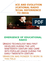 Emergence and Evolution of Educational Radio with speciaal referance to india    by surath sarkar